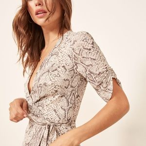 Reformation Monica Wrap Dress in Python 🐍